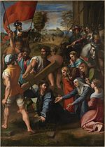 Raphael painting of Christ Falling on the Way to Calvary from 1514-1516