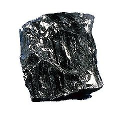 A chunk of black coal.