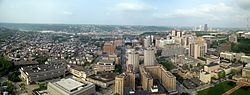 Downtown Pittsburgh seen from the University of Pittsburgh