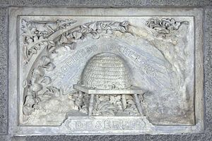 Photo of the Washington Monument Memorial Stone from Utah (State of Deseret)
