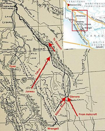 Map of Stikine route from 1897