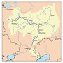 Map of the drainage basin of the Volga and Kama.