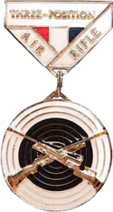 Civilian Marksmanship Program's (CMP) Junior Excellence-in-Competition (EIC) Air Rifle Badge (silver)