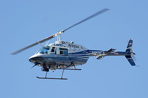 LAPD Bell 206 Jetranger helicopter