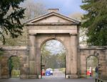 Knutsford Lodge Gateway and gates to Tatton Park