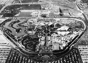 Disneyland from the air in 1956.