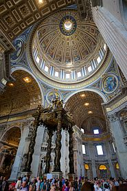 Interior picture of the central dome of St. Peter's Basilica