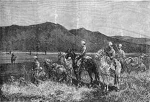 French Chasseurs on outpost in Tunis 1881.jpg