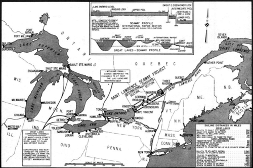 Great Lakes and St. Lawrence Seaway map 1959.png