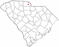 Location of Rock Hill in South Carolina