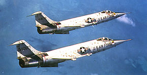 319th Fighter-Interceptor Squadron F-104As 1958.jpg