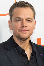 Matt Damon at the world premiere of The Martian at the 2015 Toronto International Film Festival.