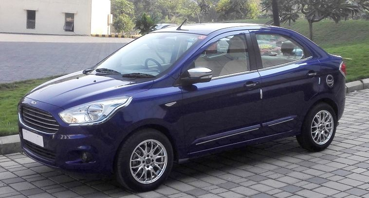 Mildly restyled Ford Figo Aspire - Front Side Profile