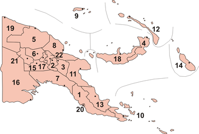 Provinces of Papua New Guinea.