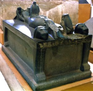 The Bed of Osiris, from the tomb of Djer, and inscribed with the name of Djedkheperew.