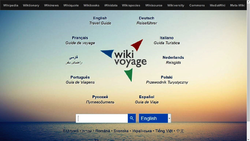 Screenshot of the English Wikivoyage's new portal
