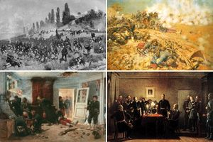 Collage of Franco–Prussian War imagery