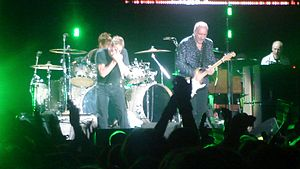 On-stage shot of the Who