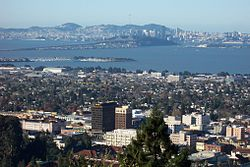 Downtown Berkeley viewed from the Berkeley Hills.