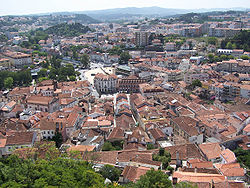 Downtown Leiria seen from its castle.