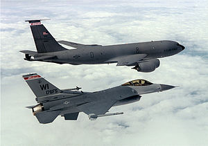 KC135R and an F16 fighter from the Wisconsin Air National Guard.jpg