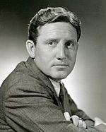 Black and white publicity photo of Spencer Tracy.