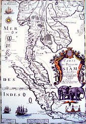 1686 Map of Siam.