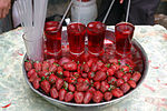 Cool, fresh-squeezed strawberry juice, Damascus, Syria.jpg