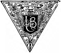 "Traingular logo bearing the initials, ""L, B & Co."" and the subtitle, ""Books, the best companions"