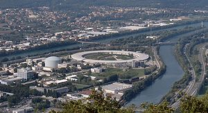 Top view of the ring of European Synchrotron Radiation Facility