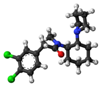 Ball-and-stick model of the U-50488 molecule