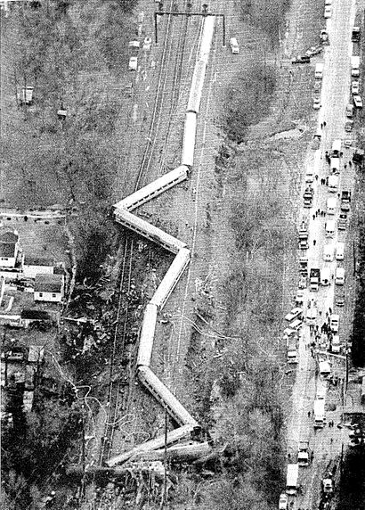 Aerial view of the Colonial after the accident