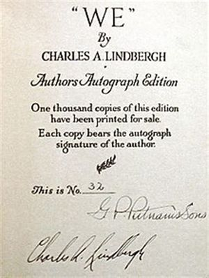 """WE"" (1927 book) Author's Autograph Page.jpg"