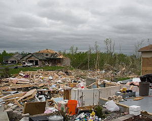 tornado damaged homes