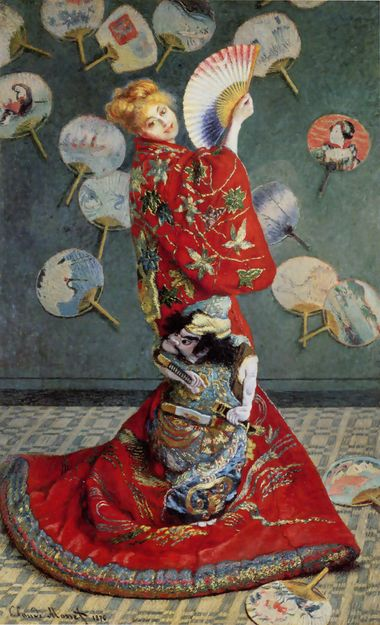 Madame Monet in a Japanese kimono, 1875 by Claude Monet