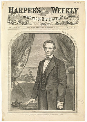Hon. Abraham Lincoln, born in Kentucky, February 12, 1809 (Boston Public Library).jpg