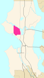 Map of Queen Anne's location in Seattle