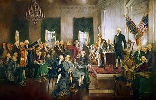 Scene at the Signing of the United States Constitution