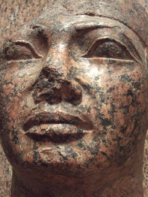 Shebitku's statue in the Nubian Museum