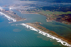 Aerial view of Humboldt Bay