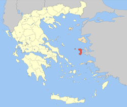 Chios within Greece