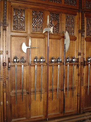 Edinburgh Castle Great Hall Pole Weapons.jpg