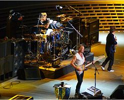 The Police onstage