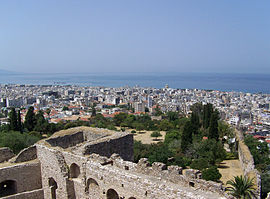 View of Patras from the fortress