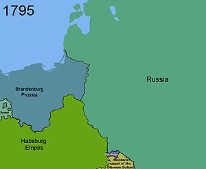 Third partition of Poland in 1795