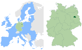 Location within European Union and Germany