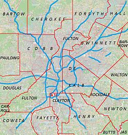Roswell is located in Metro Atlanta