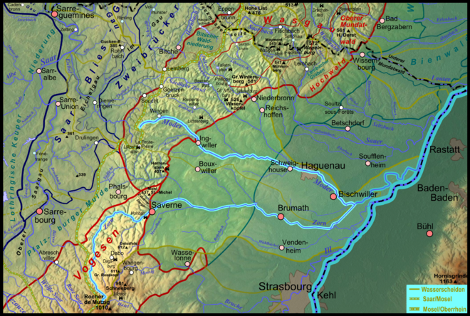 Map of the Moder River basin.