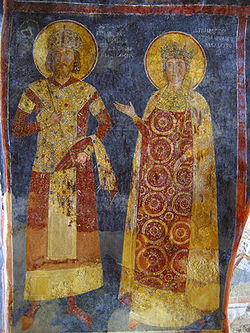 Emperor Constantine Tikh Asen and his wife Irina.