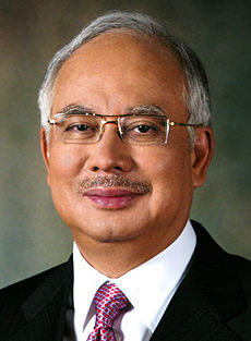 an official photo of prime minister Najib Tun Razak.